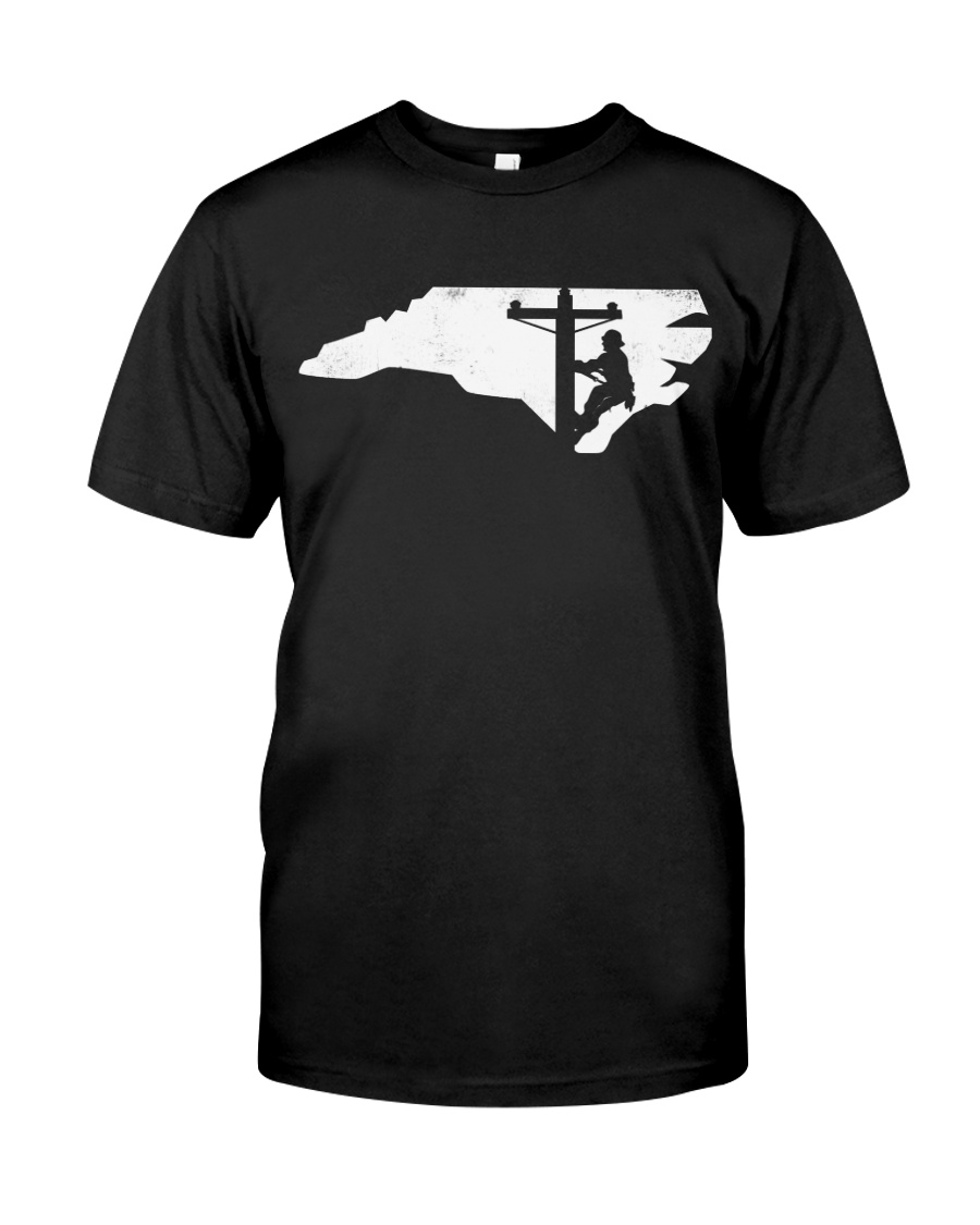 Lineman - North Carolina Map Classic T-Shirt