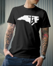 Lineman - North Carolina Map Classic T-Shirt lifestyle-mens-crewneck-front-6