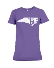Lineman - North Carolina Map Premium Fit Ladies Tee thumbnail