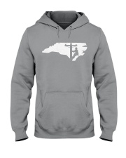 Lineman - North Carolina Map Hooded Sweatshirt thumbnail