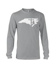 Lineman - North Carolina Map Long Sleeve Tee thumbnail