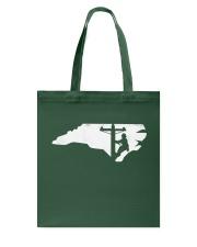 Lineman - North Carolina Map Tote Bag thumbnail