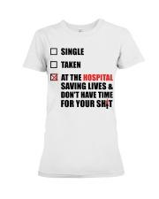 Nurse Status - Saving Lives Premium Fit Ladies Tee thumbnail