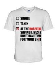 Nurse Status - Saving Lives V-Neck T-Shirt thumbnail