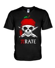 Pirate Math Teacher V-Neck T-Shirt thumbnail