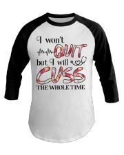 Nurse - Cuss The Whole Time Baseball Tee thumbnail