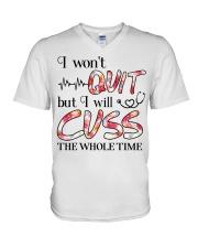Nurse - Cuss The Whole Time V-Neck T-Shirt thumbnail