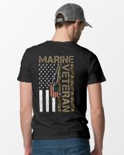 Marine Veteran - American Flag and Dogtag - USMC Classic T-Shirt lifestyle-mens-crewneck-back-6