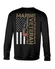 Marine Veteran - American Flag and Dogtag - USMC Crewneck Sweatshirt thumbnail