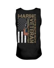 Marine Veteran - American Flag and Dogtag - USMC Unisex Tank thumbnail