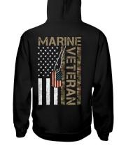 Marine Veteran - American Flag and Dogtag - USMC Hooded Sweatshirt thumbnail