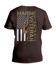 Marine Veteran - American Flag and Dogtag - USMC V-Neck T-Shirt thumbnail