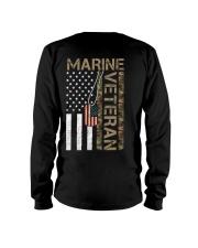 Marine Veteran - American Flag and Dogtag - USMC Long Sleeve Tee thumbnail