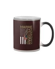Marine Veteran - American Flag and Dogtag - USMC Color Changing Mug thumbnail