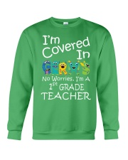 First Grade Teacher - I'm covered in Germs Crewneck Sweatshirt thumbnail