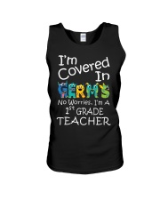 First Grade Teacher - I'm covered in Germs Unisex Tank thumbnail