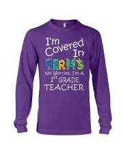 First Grade Teacher - I'm covered in Germs Long Sleeve Tee thumbnail