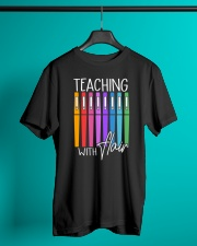 Teacher - Teaching with Flair Classic T-Shirt lifestyle-mens-crewneck-front-3