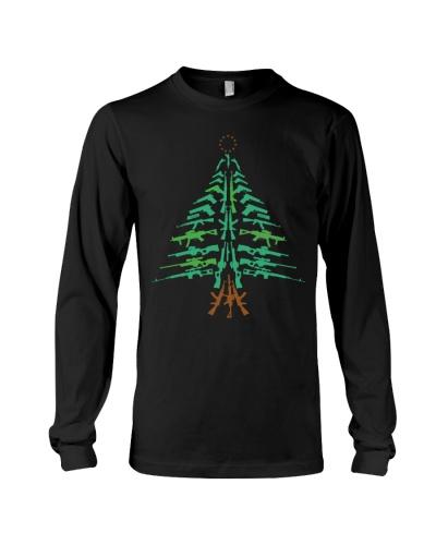 Veteran - Guns Christmas Tree - Betsy Ross Flag