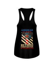 Retired Firefighter Ladies Flowy Tank thumbnail