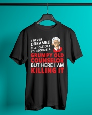 Grumpy Old Counselor Classic T-Shirt lifestyle-mens-crewneck-front-3