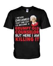 Grumpy Old Counselor V-Neck T-Shirt thumbnail