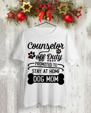 Counselor - Stay at Home Dog Mom Classic T-Shirt lifestyle-holiday-crewneck-front-2