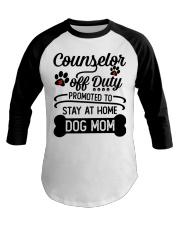 Counselor - Stay at Home Dog Mom Baseball Tee thumbnail