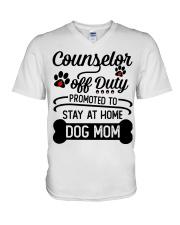 Counselor - Stay at Home Dog Mom V-Neck T-Shirt thumbnail