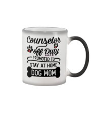 Counselor - Stay at Home Dog Mom Color Changing Mug thumbnail