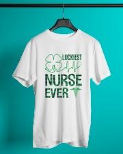 Luckiest Nurse Ever Classic T-Shirt lifestyle-mens-crewneck-front-3