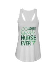 Luckiest Nurse Ever Ladies Flowy Tank thumbnail