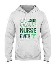 Luckiest Nurse Ever Hooded Sweatshirt thumbnail