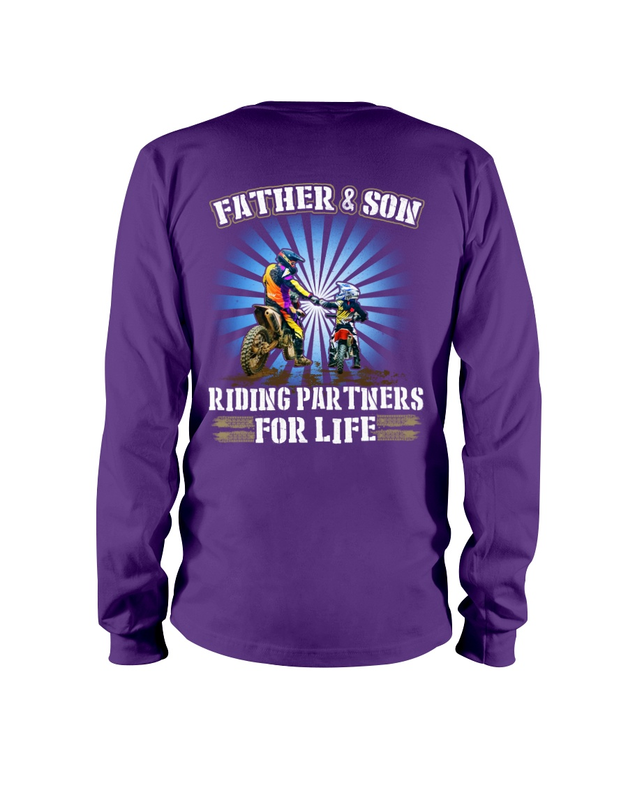 Father and Son - Riding Partners for life Long Sleeve Tee