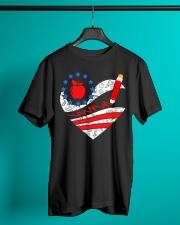 Teacher - Heart Classic T-Shirt lifestyle-mens-crewneck-front-3