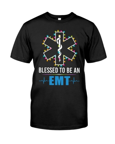 EMT - Blessed - Christmas Shirt