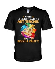 Art Teacher Underestimate V-Neck T-Shirt thumbnail
