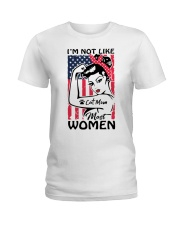 Cat Mom - I'm not like most Women Ladies T-Shirt thumbnail
