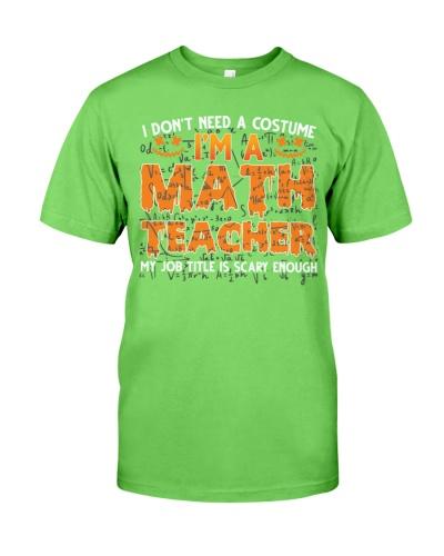 Math Teacher - Halloween Costume