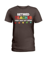 Retired Teacher - Every Child Left Behind Ladies T-Shirt thumbnail