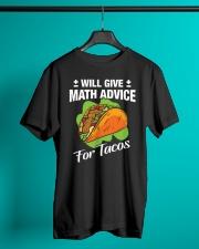Math Teacher - Math Advice for Tacos Classic T-Shirt lifestyle-mens-crewneck-front-3