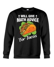 Math Teacher - Math Advice for Tacos Crewneck Sweatshirt thumbnail