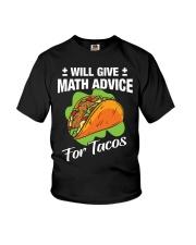 Math Teacher - Math Advice for Tacos Youth T-Shirt thumbnail