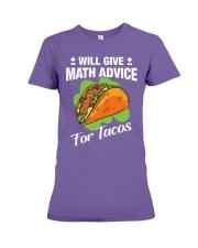 Math Teacher - Math Advice for Tacos Premium Fit Ladies Tee thumbnail
