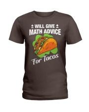 Math Teacher - Math Advice for Tacos Ladies T-Shirt thumbnail