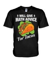 Math Teacher - Math Advice for Tacos V-Neck T-Shirt thumbnail