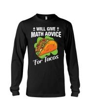 Math Teacher - Math Advice for Tacos Long Sleeve Tee thumbnail