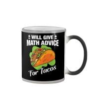 Math Teacher - Math Advice for Tacos Color Changing Mug thumbnail