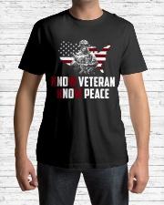 No Veteran No Peace Classic T-Shirt lifestyle-mens-crewneck-front-1