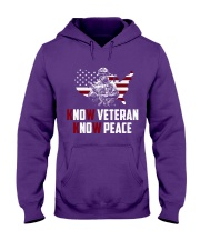 No Veteran No Peace Hooded Sweatshirt thumbnail